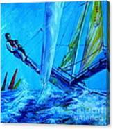 Regatta. Triptych. Part One Canvas Print