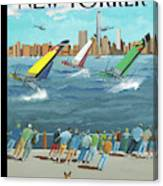 Reggata On The Hudson Canvas Print