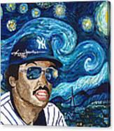 Reggie Jackson Starry Night Canvas Print
