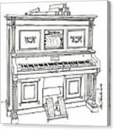 Regina Player Piano Canvas Print