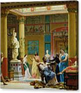 Rehearsal Of The Fluteplayer And The Diomedes Wife In The Atrium Of The Pompeian House Of Prince Canvas Print