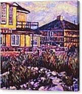 Rehoboth Beach Houses Canvas Print