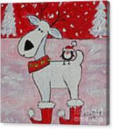 Reindeer Booties Canvas Print