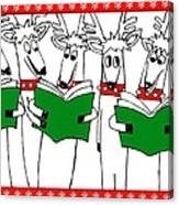 Reindeer Choir Canvas Print