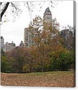 Relax In Central Park Canvas Print