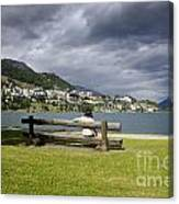 Relax In St Moritz Canvas Print