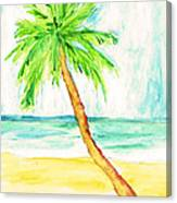 Relax Palm Canvas Print