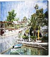 Relaxing In Cavtat Canvas Print