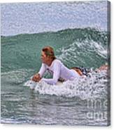 Relaxing In The Surf Canvas Print