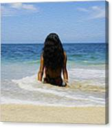 Relaxing In The Waves Canvas Print