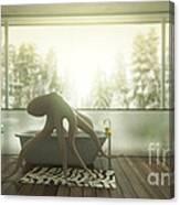 Relaxing Octopus...  Canvas Print