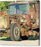 Relic Behind The Gas Station Canvas Print