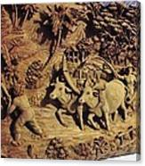 Relief Art Canvas Print