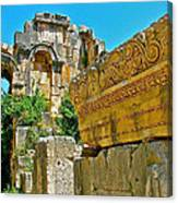 Relief In The Coutyard In Myra-turkey Canvas Print
