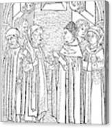 Religious Argument, 1477 Canvas Print