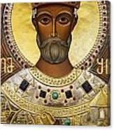 Religious Art Inside The Tsminda Sameba Cathedral Tbilisi Canvas Print