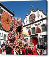 Religious Festival In Azores Canvas Print