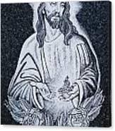 Religious Icons In Spanish Cemetery Canvas Print