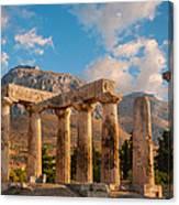Remains Of Apollo Temple Canvas Print