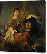 Rembrandt And Saskia In The Parable Of The Prodigal Son Canvas Print