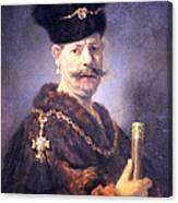 Rembrandt's A Polish Nobleman Canvas Print