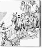 Remington Cowboys, 1887 Canvas Print