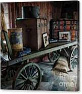 Remnants Of A Rr Station Canvas Print