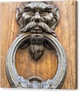Renaissance Door Knocker Canvas Print