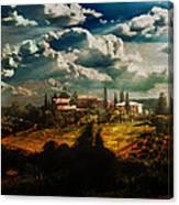 Renaissance Landscape With Power Lines Canvas Print