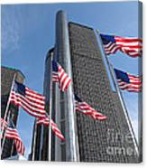Rencen And Flags Canvas Print