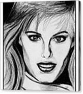 Renee Simonsen In 1984 Canvas Print