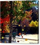 Reno Riverwalk In The Fall Canvas Print