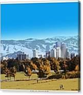 Reno Skyline From Rancho San Rafael Canvas Print