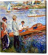 Renoir's Oarsmen At Chatou Canvas Print