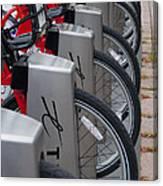 Rental Bikes Canvas Print