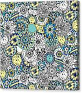 Repeat Print - Floral Burst Canvas Print