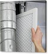 Replace Home Air Filter Canvas Print