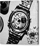 Replacing The Battery In A Metal Band Wrist Watch Canvas Print