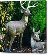 Replica Of Deer Family Canvas Print