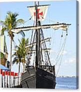 Replica Of The Christopher Columbus Ship Pinta Canvas Print