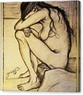 Replica Of Vincent's Drawing - Sorrow Canvas Print