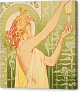 Reproduction Of A Poster Advertising 'robette Absinthe' Canvas Print