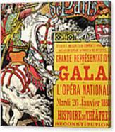 Reproduction Of A Poster Advertising The Fetes De Paris Canvas Print