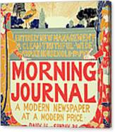 Reproduction Of A Poster Advertising The Morning Journal Canvas Print