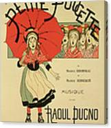 Reproduction Of A Poster Advertising The Operetta La Petite Poucette Canvas Print