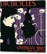 Reproduction Of A Poster Advertising Victor Bicycles Canvas Print