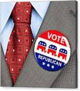 Republican Vote Badge Canvas Print
