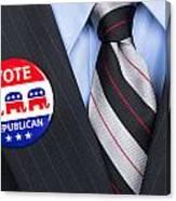 Republican Vote Pin Canvas Print