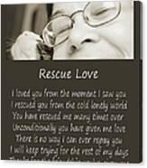 Rescue Love Adoption Canvas Print