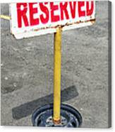 Reserved Signpost Canvas Print